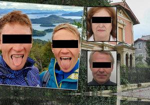 Marii a Přemysla z Prahy měli zavraždit kvůli vile, policie zadržela podezřelé muže.