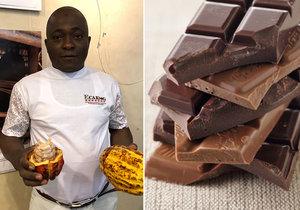 Pěstitel kakaových bobů Ousmane Traore z Pobřeží slonoviny popsal, jak je taková profese těžká.
