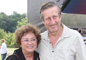 Jana Boušková s manželem, Václavem Vydrou