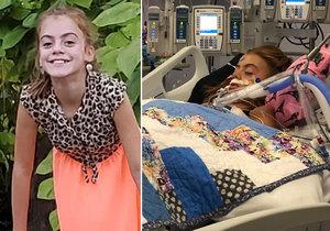 Dívce (10) požírá mozek nebezpečný parazit! Do těla se jí dostal nosem při koupání v řece.