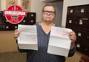 Vyděšená seniorka Miroslava Dubová potřebuje radu Ombudsmana Blesku.