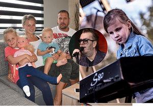 Nevidomá Sára Cieslarová (7), nadaná klavíristka, se stala hvězdou festivalu Southock Fest. Byla předskokankou Richarda Müllera.