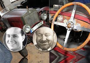 Sportovní vůz značky Wikov se stal vůbec tím prvním, který si pořídila slavná dvojice Voskovec a Werich.
