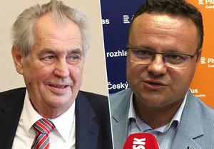 Miloš Zeman navrhuje koncesionářské poplatky zrušit, šéf Českého rozhlasu Zavoral by je naopak rád navýšil