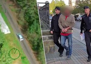 Únosce vzal za rukojmí svou přítelkyni. Policisté ho dopadli díky vrtulníku