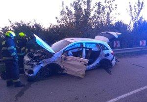 K vážné dopravní nehodě došlo ve středu večer v pražských Třeboradicích.