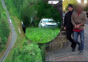 Drama z Karlovarska: Uprchlík vytáhl nůž a vzal přítelkyni jako rukojmí! Nečekaný úder shora