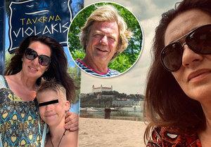 Kramárova exmanželka Nataša Nikitinová vypadá po rozvodu spokojeně