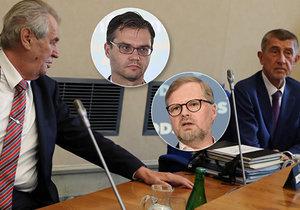 """Fiala chce kvůli abolici opoziční pakt, za """"přání smrti"""" Zemanovi to Polčák schytal"""