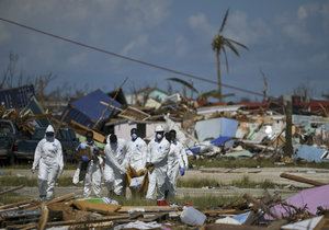 Zkáza po hurikánu Dorian na Bahamách (23. 9. 2019)
