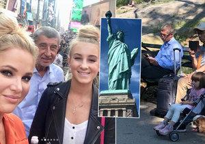 """Babiš vyvezl Moniku i dceru Vivien do USA: """"Letenky a hotel jsem platil sám."""""""