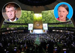 Summit OSN ke klimatu: Babiš mlčí, copatá Greta mluvila hodně. Čechy téma nezajímá