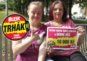 Brňanka Monika Flodrová s dcerou Kristýnou si koupí za výhru v Trháku kola.