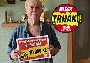 Pan Michal je přesvědčen, že mu k výhře pomohla zesnulá manželka.