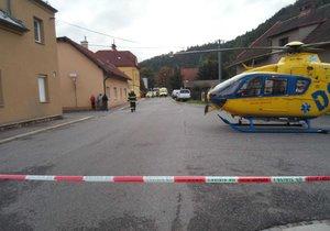 Výbuch v rodinném domě na Orlickoústecku: Dva senioři skončili v nemocnici