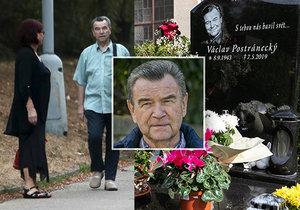 Václav Postránecký a jeho hrob