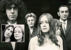 Mirka Kochová a její osudoví muži - Mejla Hlavsa (vlevo dole) a Milan Koch, kterého si vzala za muže.