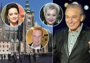Zádušní mše za Slavíka: V katedrále zazpívá  Bílá, Urbanová a Margita