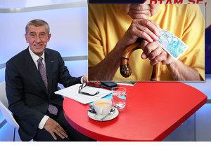 Andrej Babiš se pro Blesk Zprávy vyjádřil o navýšení důchodů.