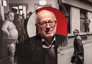 Vladimír Birgus vystavuje zamračené lidi z východního bloku. Připomíná tak blbou náladu normalizace.