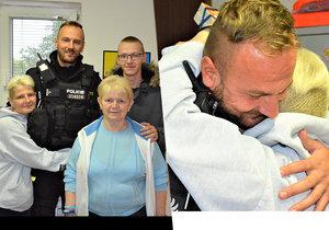 Nemocná Hana chtěla v Kladně skočit z mostu: Policista Jiří jí zachránil život, žena mu teď osobně poděkovala