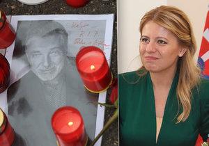Slovenská prezidentka Zuzana Čaputová se pokloní Karlu Gottovi až v pondělí. Při cestě do Prahy na Forum 2000 se chce zastavit u mistrova hrobu a zapálit svíčku