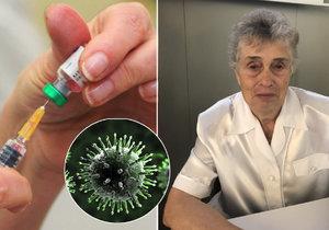 Paní Milada (76) na chřipku málem zemřela. Teď říká, že se nechá očkovat.