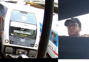 Pražská policie hledá vandala, který vylezl na nádraží na střechu a zkratoval vlak.
