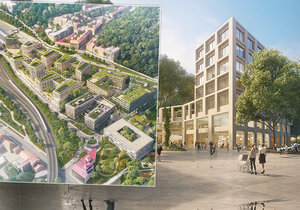 Developer představil plány s jihem nové čtvrti Smíchov City.