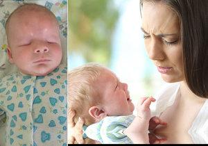 Malý Saša se narodil bez očí a máma se ho zřekla (vpravo ilustrační foto)