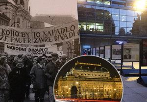 Na náměstí Václava Havla je pod širým nebem k vidění nová venkovní výstava. Jmenuje se Boj o klíčky (Národní divadlo a revoluce 1989).