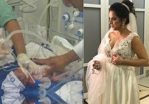 Těhotná nevěsta (†30) dostala mrtvici cestou na svatbu: Lékaři stihli zachránit její dceru