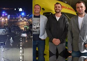 Andělé z D1 promluvili: Popsali chvíle mezi hořícími auty a explozemi!