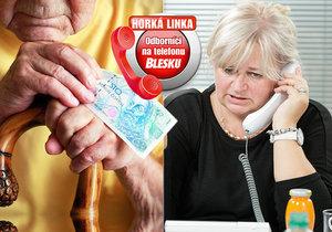 Tentokrát se odborníci na telefonu Blesku budou věnovat problematice penzí, penzijního pojištění i exekucím.