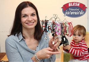 Andrea Kuchtová své výrobky představí na Vánočním jarmarku Blesku.