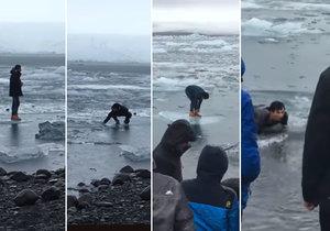 Turisté na Islandu ignorují varovné cedule, končí často v ledové vodě