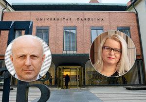 Miloš Balabán a Mirka Kortusová na Univerzitě Karlově ve svým pozicích po skandálu s penězi skončili.