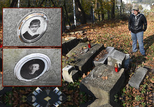 V zapadlém parčíku vedle bývalého dolu Trojice ve Slezské Ostravě se náhle objevily rozpadlé náhrobky včetně dětských.