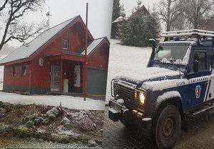 Na šumavské Kvildě sněžilo.