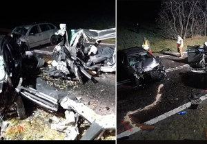 Při tragické nehodě na Znojemsku zemřeli čtyři lidé.