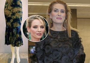Olga Menzelová prodala sukni od Umy Thurman