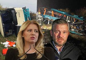 Prezidentku Čaputovou i premiéra Pellegriniho zdrtila tragická nehoda autobusu u Nitry.