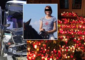 Při tragické nehodě autobusu u Mělníka zahynula učitelka Martina, žáci se s ní loučili před školou