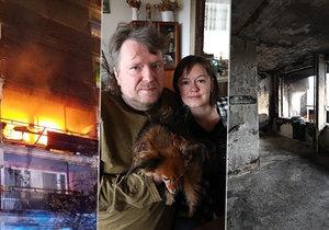 Manžele Pavla a Aničku zachránili hasiči na poslední chvíli. Bohužel jejich oblíbené sousedce, u které požár vypukl, nebylo pomoci.