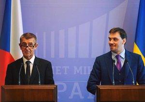 Předseda vlády Andrej Babiš ukrajinským premiérem Oleksijem Hončarukem