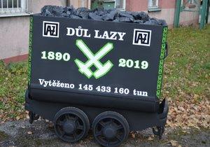 Poslední vozík uhlí z dolu Lazy.