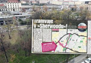Sherwoodem u hlavního nádraží pojedou tramvaje. Kudy přesně?