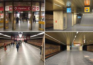 Nástup a výstup se nekoná: Stanice metra Opatov je zavřená, vlak jen projíždějí
