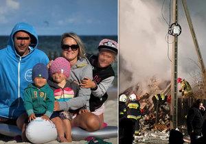 Oběťmi výbuchu plynu ve Slezsku se stala sympatická rodina Wojciecha a Anny K.