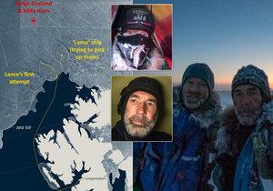 Po strastiplné cestě dorazili s pomocí norské dvojice polárníci Horn a Ousland na severní pól.